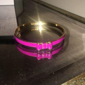 Purple bow bracelet